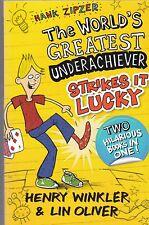 Hank Zipzer, Mutant Moth, Lucky Monkey Shoes, 2 Books in 1, Henry Winkler, New
