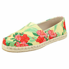 Toms Classic Rope Womens Yellow Multicolour Textile Espadrille Shoes