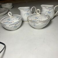2 Sets Of Seville Imperial China creamer sugar bowl 4 Pieces gold Rim