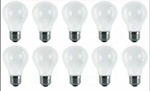 100w Watt Standard Bulbs E27 Frosted Edison GLS Screw in Pearl Light Bulbs x 10