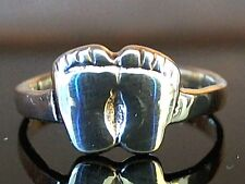 Solid Sterling Silver Fancy Feet Toe Ring Face Height 7mm - Adjustable 1.1 Grams