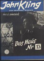 John Kling Der Kriminal-Roman Nr.142 von 1953 - Z1-2 Romanheft