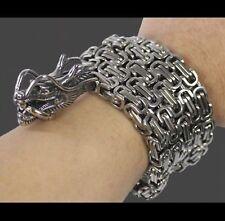 China stainless steel dragon titanium steel bracelet.(100cm)