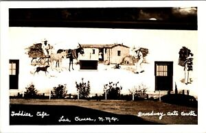 LAS CRUCES NEW MEXICO ROADSIDE BROADWAY AUTO COURTS & CAFE REAL PHOTO POSTCARD