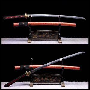 HANDMADE FOLD STEEL FullTang BLADE SHARP JAPANESE SAMURAI  SWORD KATANA