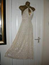 8  ASOS MAYA CREAM EMBELLISHED MAXI DRESS CROSS BEAD PARTY WEDDING BRIDESMAID