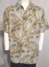Hawaiian Aloha Bahama Bay Club Button Up Men Shirt W/Pocket Size Xxl