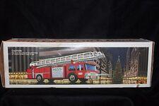 "Vintage HESS Gasoline 1986 Aerial Ladder Fire Truck Bank (Bat Op) 13""  MIB"