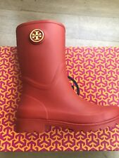 5295ca838a81 TORY BURCH MAUREEN RAIN BOOT TORY RED BRAND NEW IN THE BOX SIZE 10