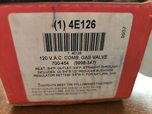 Robert Shaw 120 V.A.C. COMB. GAS VALVE 4E126 New