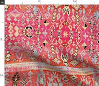 Kilim Moroccan Indian Indie Boho Ethnic Spoonflower Fabric by the Yard