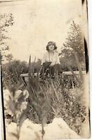 Antique RPPC St. Louis Forest Park Flapper Girl 1920s Young Lady Postcard