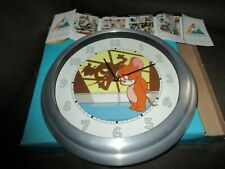 Démons&merveilles-Horloge Tom&Jerry-Grand format-32 cm-Neuve-Métal&Verre-1999