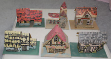 Vintage Pineville Putz Train Display Montgomery Ward-Six Different Ones