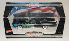 ERTL 1/18 Custom '57 Chevy Convertible Black with Flames American Muscle R8896