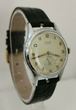 Vintage 1940s Avia 15 Jewels Cal AS 1002 984 Military Style Gents Wrist Watch