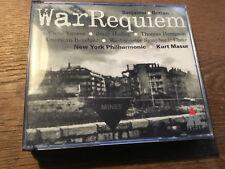 Britten - War Requiem [2 CD Box] Teldec Vaness  Hampson  Kurt Masur