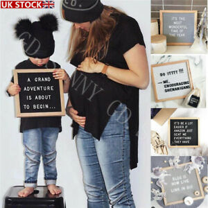 """Wooden Letter Board Message Frame Boards Changeable with Felt Symbol Numbers 10"""""""