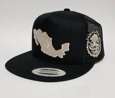 TAMAULIPAS   MAPA DE  MEXICO HAT  MESH TRUCKER   BLACK 2LOGOS   SNAP BACK   NEW