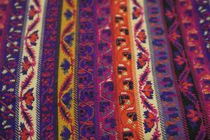 4m x 112 cms beautiful John Kaldor multicolored viyella style fabric in purples