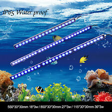PopularGrow 54w/81w/108w LED Aquarium Light Bar Blue Bulb Fish Tank Plant Coral
