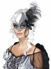Masquerade Dark Angel Eyemask, Halloween Carnival of the Damned Fancy Dress  #AU