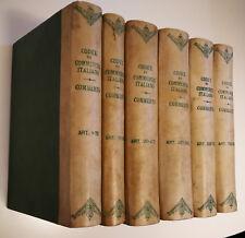 Codice di Commercio Italiano Commento Stefano Castagnola UTET 1889 1899 6 volumi