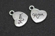 "18pcs Nice Alloy Heart ""Family Name"" Charm Bracelet Necklace Finding Pendants"
