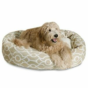 """Majestic Pet 40"""" Athens Sand Sherpa Bagel Bed"""