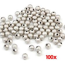 100 Perline Perle Sfere smerigliato 6IGIOTTERIA HK