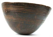 Art Africain - Ancienne Calebasse Touareg - Marques de Restaurations - 31,5 Cms