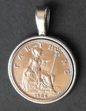 1927 90th birthday lucky Britannia Farthing Pendant present + free gift box coin