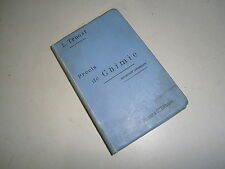 livre scolaire Précis de chimie Par L. Troost année 1897