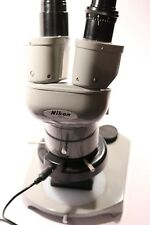 Vintage Nikon 70879 Stereo Microscope + 10x Eyepieces + 60 LED Light & Stand