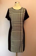 MARCCAIN BLACK & WHITE PRINT SHORT SLEEVE PENCIL DRESS SIZE N5 UK 16