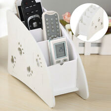 Wooden Air Conditioner TV Remote Control Holder Case Storage Wall Mount Box UK