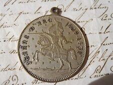 Ancienne médaille Jeanne D'Arc 1409-1431 Orléans 1429 Rouen 1931 Reims 1429