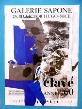Antoni CLAVÉ Affiche originale 86 Abstrait Catalan Espagne Cataluna Sapone Nice