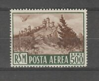 s36422 SAN MARINO 1951 MNH L.500 Bruno Posta Aerea  1v #97