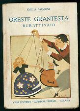 SALVIONI EMILIA ORESTE GRANTESTA BURATTINAIO CARDINAL FERRARI 1927