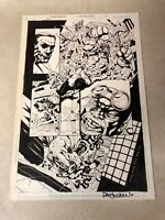 HERO #8 original comic art DIAL H FOR HERO 2004 SIGNED detailed action page