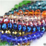 FACETED RONDELLE  CRYSTAL GLASS BEADS PICK COLOUR