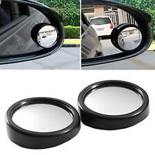 "2x QUALITY ADHESIVE 2"" ROUND BLIND SPOT WIDE ANGLED MIRROR Easy Car Wing Safety"