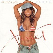 JANET JACKSON: ALL FOR YOU CD W/LIMITED EDITION BONUS DVD 2001 VIRGIN! NEAR MINT