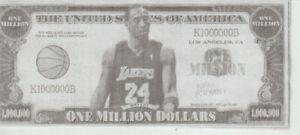 Kobe Bryant and LeBron James Hard Million Dollar USA Novelty Bill at smokejoe13.