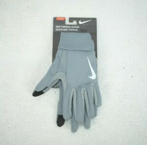 Nike Thermal Running Gloves Unisex Size XL Grey Touchscreen Compatible New