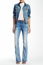 VIGOSS Light Wash Denim Womens Size 27 Flare Distressed Jeans 181 Deal
