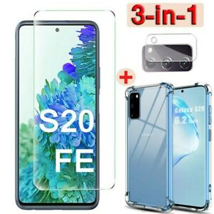 For Samsung Galaxy S20 FE 5G TEMPERED GLASS Screen Protector+Case+Camera Lens ღღ