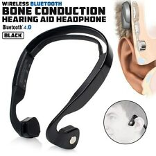 Wireless Black Bone Conduction Hearing Aid Sound Outdoor Sport Headphone Headset