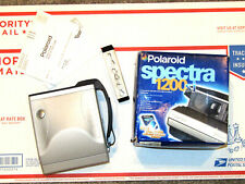 Polaroid Spectra 1200si Instant Film Camera Silver Grey F10 125mm Flash Grip AI